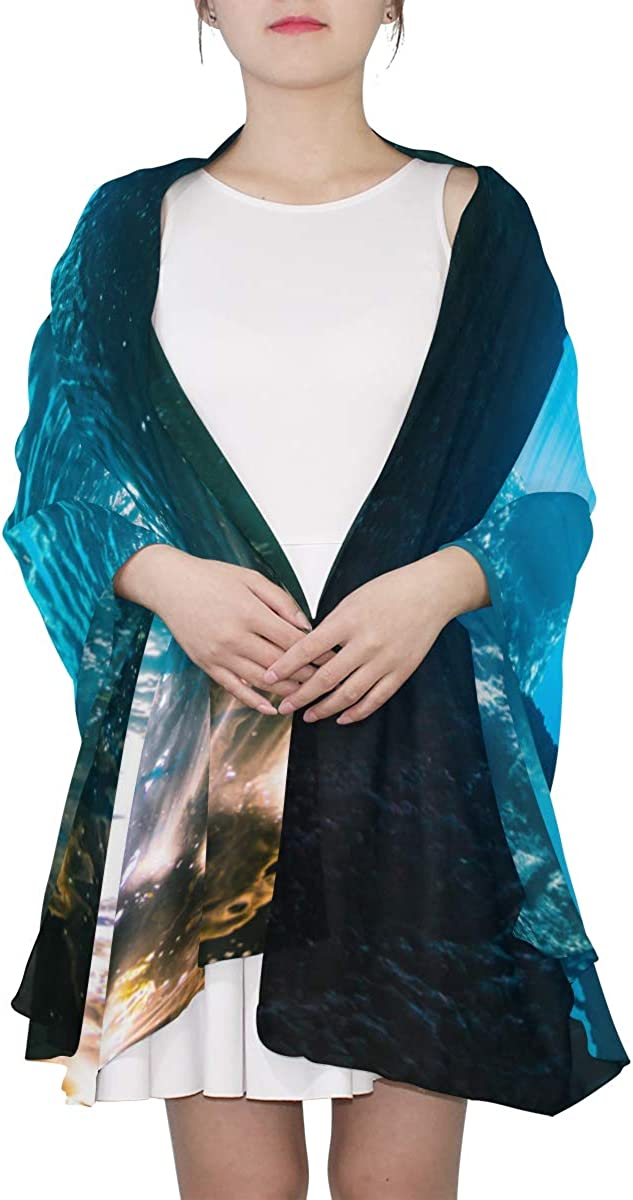 A Beautiful Cave Unique Fashion Scarf For Women Lightweight Fashion Fall Winter Print Scarves Shawl Wraps Gifts For Early Spring