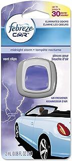 Febreze Car Vent Air Freshener, Midnight Storm, 0.06 Ounce (Pack of 8)