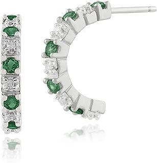 Zircone Cubique Zircon Cristal CALIN Boucles d/'oreilles Créoles 18K Jaune Plaqué Or Femmes