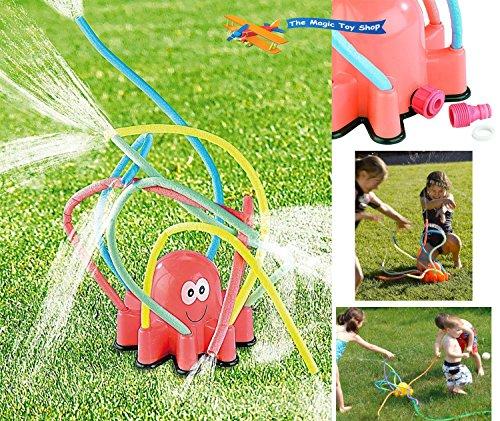 Krake Oktopus mehrfarbig Wasser-Sprinkler Wasser-Spielzeug Garten-Sprenger Rasen-Sprenger Garten-Schlauch Wasser-Schlauch Kinder-Spielzeug Pool-Kanone Planschbecken-Pistole Bewässerungsschlauch