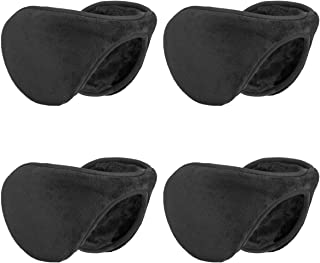 Metog Unisex 4in1 Pack Ear Warmers Polar Fleece/kints Winter EarMuffs