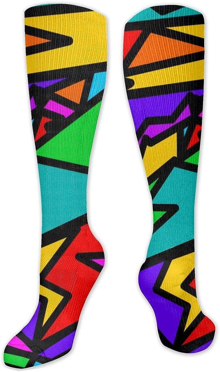 Geometric Random Knee High Socks Leg Warmer Dresses Long Boot Stockings For Womens Cosplay Daily Wear