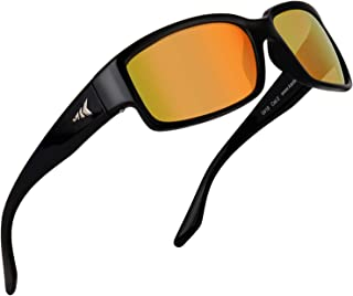 Skidaway Polarized Sport Sunglasses for Men and Women,Ideal for Driving Fishing Cycling and Running,UV Protection