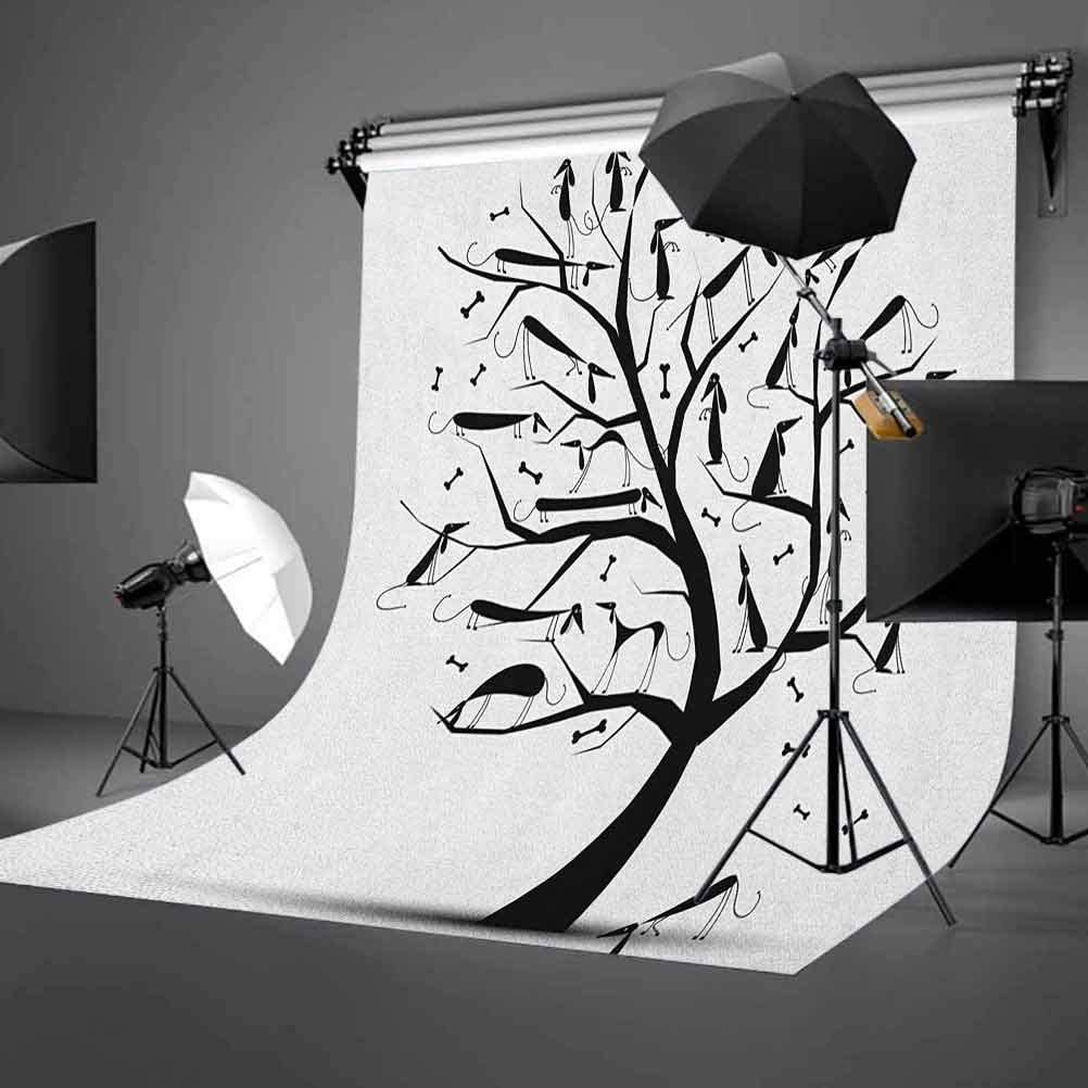 8x12 FT Cartoon Vinyl Photography Backdrop,Private Detective Duckling Character with a Magnifying Glass and Pipe Duck Sherlock Background for Party Home Decor Outdoorsy Theme Shoot Props