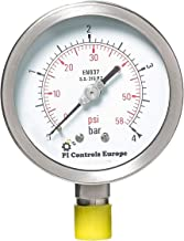 PI Controls UK Pressure Gauge, PG-100-R4-WF-SS