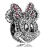 Disney Minnie Mouse de Pandora 2015edición limitada Pave Face Portrait cuenta para pulsera (plata de ley 925