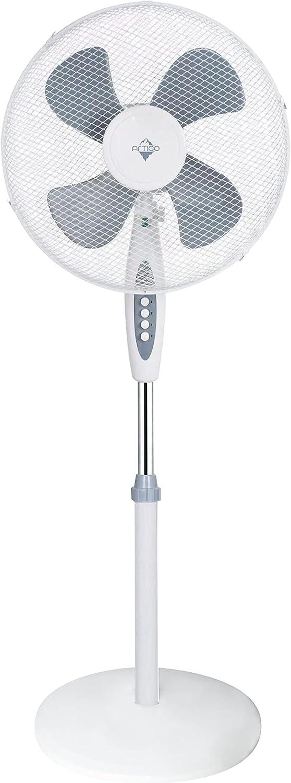 Sytech Ventilador de pie, Base Circular, 40cm, 16