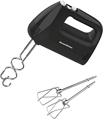 Electric Hand Mixer with 5 Speed 250W Turbo,Kitchen Handheld Mixer with 4 Stainless Steel Attachments for Whipping Mixing Cookies,Brownies,Cakes,Dough Batters