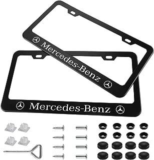 Best mercedes benz license plate frame black Reviews