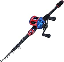 Sougayilang Fishing Rod and Reel Combo, Ultra Light Baitcasting Fishing Reel for Travel Saltwater Freshwater and Beginner