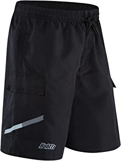 bpbtti Men's Mountain Bike Shorts 3D Padded MTB Cycling Shorts with undetachable mesh Liner-Lightweight&Breathable