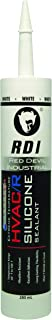 Red Devil 0896 Extreme Temperature HVAC/R Silicone Sealant, 280 ml, White