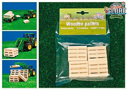 Kids Globe 610761 - Holz-Paletten Set 8 Stück, 5 x 3,8 x 1 cm