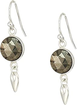Pyrite Drop Earrings