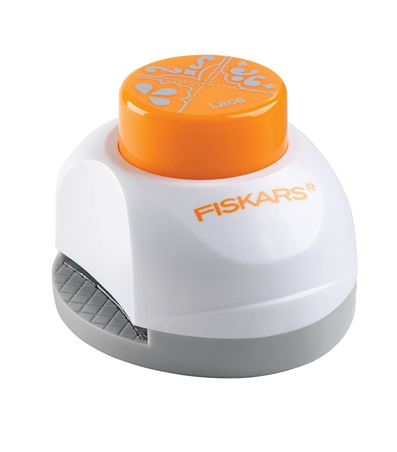 Fiskars 3-in-1 Corner/Border Punch, Lace 117290-1001)
