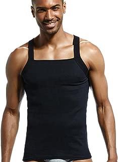 Men's Tops Casual Solid Designer Sexy Cut Ribbed Cotton Vests