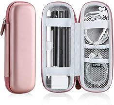AGPTEK Estuche para Apple Pencil, Cubierta de EVA para Lápiz de iPad /Pro, Microsoft, Samsung, HAHAKEE, Wacom etc. Soporta Cable USB y Auriculares, Rosa