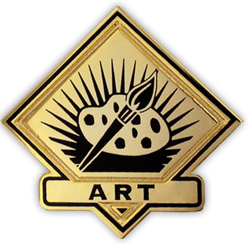 PinMart Black and Gold Art Student School Teacher Lapel Pin