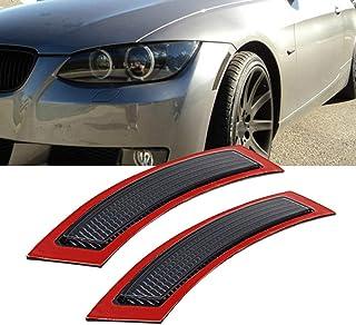 GSRECY 2pcs for BMW E92 E93 3 Series 2DR 2007-2013 Front Side Marke Fender Bumper Reflector (Smoke Lens)