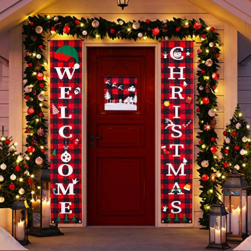 Christmas Decorations, Christmas Outdoor Decorations, Christmas Banner, Indoor Outdoor Christmas Decorations, Christmas Party Supplies, Christmas Sign for Front Door/Porch Decor.