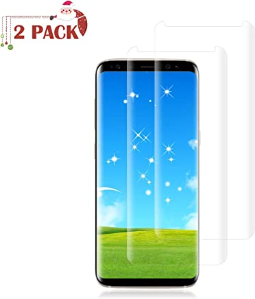 [2 Pack] Galaxy S8 Plus Screen Protector [9H Hardness][Anti-