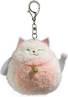 Smilesky Plush Cat Keychain Stuffed Animal Toys Dolls Ornaments Pendant Lucky Kitty Pink