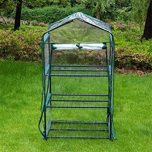 HWLL Mini Invernadero Transparente de 3 Niveles con Cremallera Cubierta de Repuesto Reforzada con PVC Warmhouse, Casa de Cultivo de Jardín Portátil