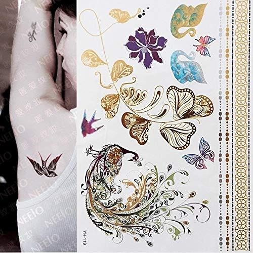 7pcs Partido de gallina de la noche decoración de DIY caliente metálica del tatuaje impermeable