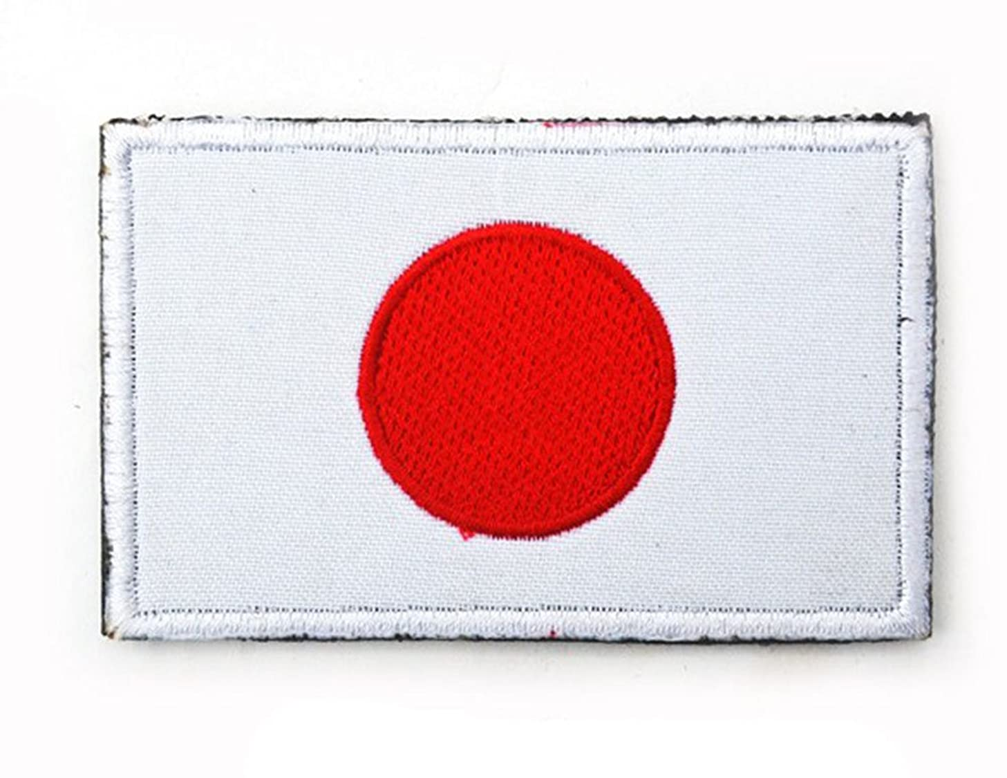 Embroidery Each Country's Flag Patch (3''X2'', Japan)