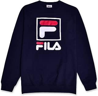 Fila Mens Big and Tall French Terry Crewneck Sweatshirt with Logo