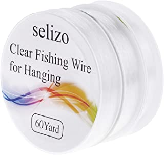 Fishing Wire, Selizo 3Pcs Clear Fishing Line Jewelry String Invisible Nylon Thread for Hanging Decorations, Beading and Cr...