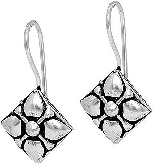 Jaipur Mart Indian Bollywood Oxidised Dangle Earrings Silver Jewellery Gift