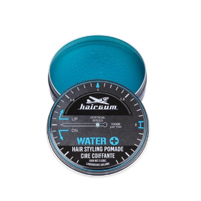 検閲塗抹関係するhairgum(ヘアガム) Water+ Pomade 100g ヘアガム ウォータープラス 水性 ポマード