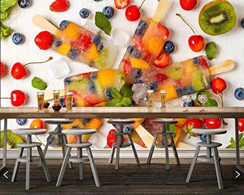 Yosot snoepjes ijs fruit voedsel foto behang, woonkamer tv achtergrond muur bank muur slaapkamer keuken restaurant 3D muurschildering 350cmx245cm