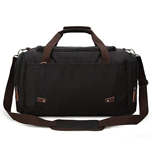 Weimi Men s Overnight Bag Weekend Travel Duffel Bag Carry-on Luggage Tote  Bag (Black a13608db06