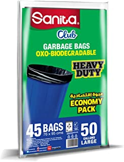 Sanita Trash Bags Club, 50 Gallons, 40 Bags, OXO Biodegradable