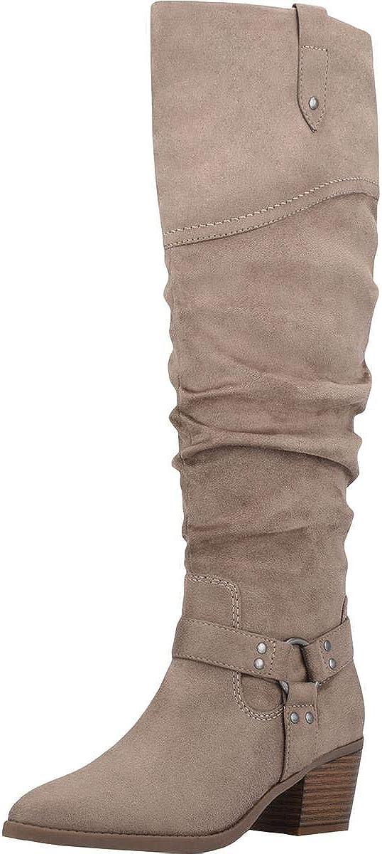 Indigo Rd. Womens Zayden Faux Suede Tall Knee-High Boots