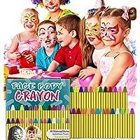 HENMI Pinturas Cara para Niños Seguridad no tóxica Pintura Facial, 28 Colores Crayons de Pintura Ajuste Halloween, Fiestas, Semana Santa,Navidad.