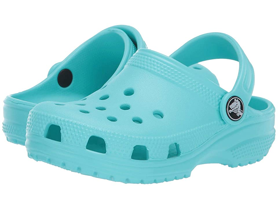 Crocs Kids Classic Clog (Toddler/Little Kid) (Pool) Kids Shoes