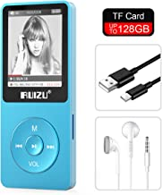 RUIZU X02 8GB MP3 Player Classic Style with FM Radio, Voice Recorder, E-Book, Video Play, Ultra Slim Player with 1.8'' Screen, Support up to 128GB Micro SD Card, Blue