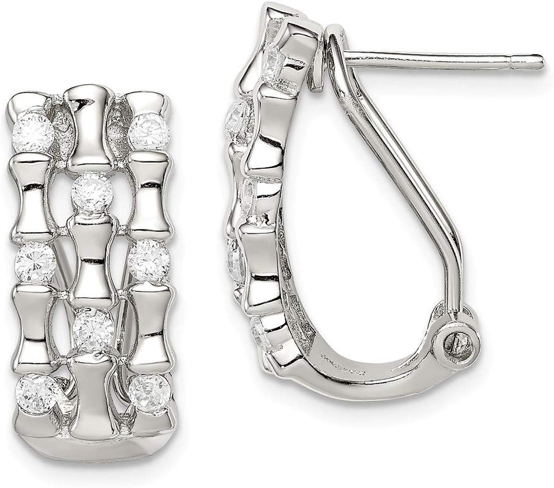 Beautiful Sterling silver 925 sterling Sterling Silver CZ TripleStrand Earrings