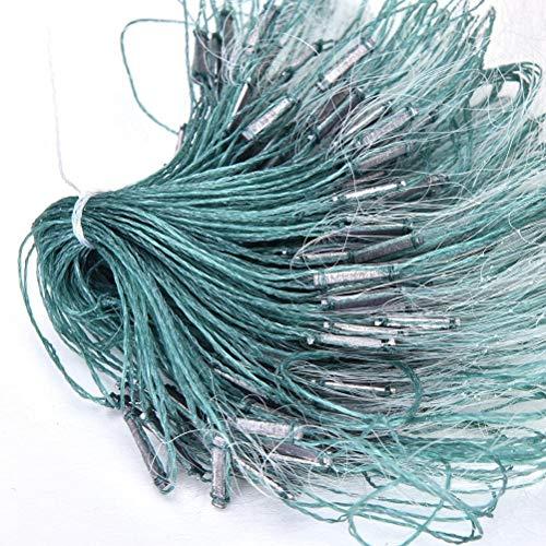 ChengLao-- 1pc Caliente de la Venta 3 Capas de monofilamento de Pesca con Red de enmalle Trampa for Peces Flotador Rede De Pesca Pesca de Nylon 25m Neto Herramientas accesorias (Size : 6 Points)