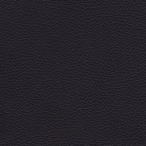 ValoreItalia Tessuto Ecopelle Morbida Finta Pelle a METRAGGIO 100x140 cm per Arredo Divani Sedie (Nero)