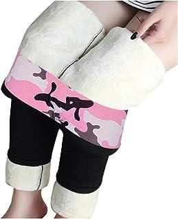 Leggings d'hiver pour Femme, Leggings Long Taille Haute, Legging Chaud et Doux avec Doublure Polaire, Collants Leggings Th...