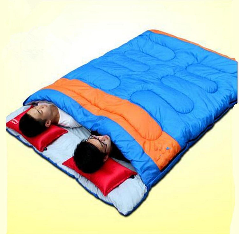 SHUIDAI Camping outdoor Schlafsack Doppel paar Mittagspause , , , Blau B06XFQ69BT  Überlegene Qualität 581677