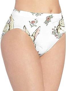 URORAPTrrrrr Womens Underwear Intimo da Donna Burger And Fries Incredibile Bikini Slip Mutandine Hipster, L