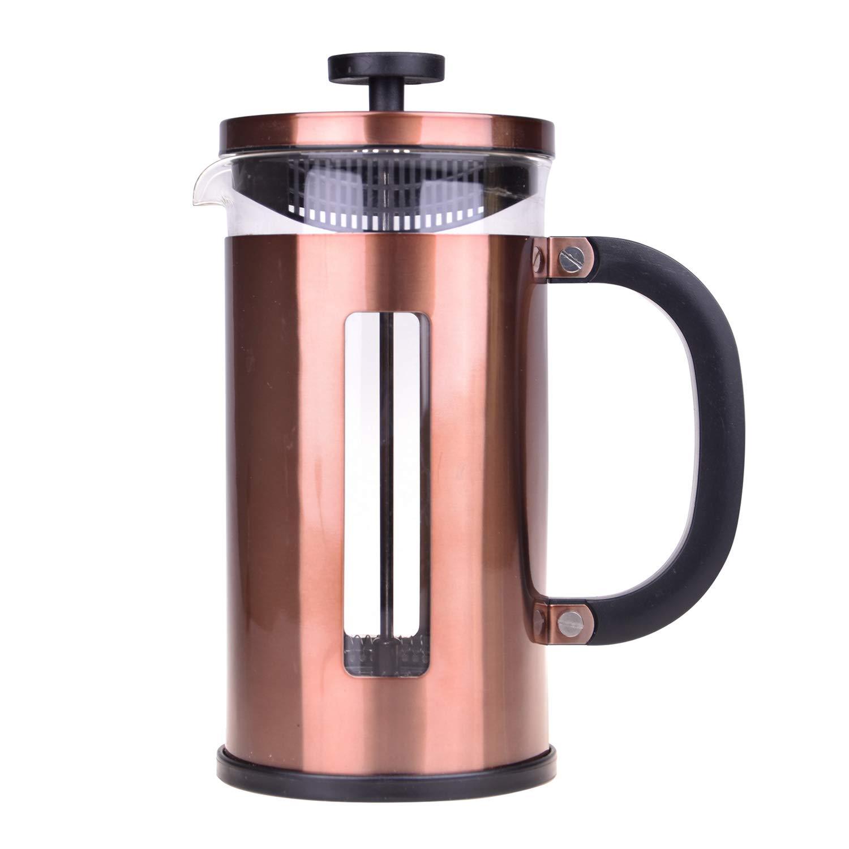 Cafetera de cobre de 3 tazas de acero inoxidable: Amazon.es: Hogar