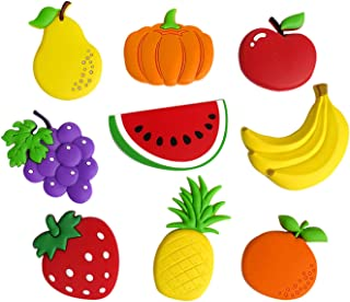 Cute Fruits Vegetables Stereo Refrigerator Fridge Magnets for Kids Activity Home Decoration Funny Stickers a Set of 9 Pieces