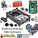 RetroPie ボックス スーパーパンドラボックス Rasperry Pi 4B (4G Ram)贈14000 in 1 128GB 家庭ミニテレビゲーム機 HDMI出力 レトロゲーム サポートArcade/FC/SFC/MD/GBA/PS/N64/ NEOGEO用互換機