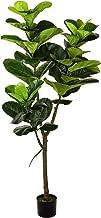 Wofair 5' Artificial Fiddle Leaf fig Tree in Planter,Artificial Tree Beautiful Fake Plant Fiddle Leaf Indoor/Outdoor UV Re...